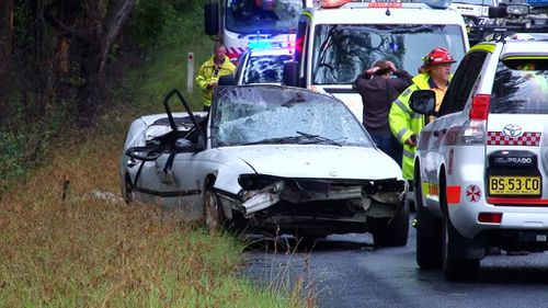 Police are still investigating the fatal crash in the NSW Southern Highlands. (9NEWS)