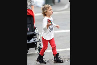 OK, so this cutie hasn't been in trouble with the law, but we can tell he's a bad ass by the 'tude of his style. We're sure parents Gwen Stefani and Gavin Rossdale will raise a perfect little gentleman, but for now we're digging his bad-ass look.