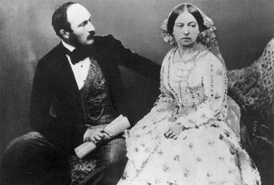 Queen Victoria and Prince Albert five years after their marriage. (Getty)
