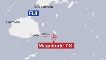 Fiji map earthquake