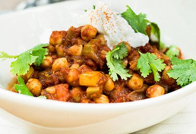 Spiced Moroccan chickpeas