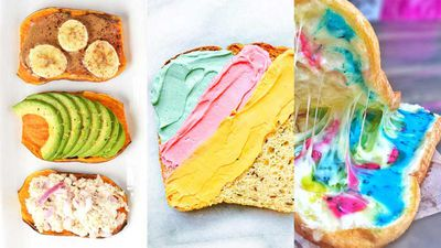 3. Colourful toast trends