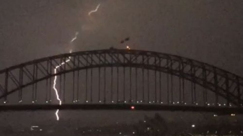 Thousands of lightning strikes hit Sydney this morning. (9NEWS)