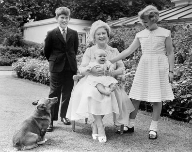 Prince Charles, the Queen Mother, Prince Andrew, Princess Anne