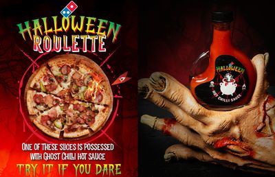 Domino's Australia launches Ghost Chilli Roulette Pizza for Halloween