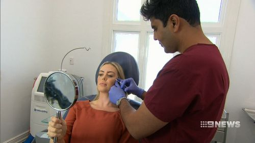 Doctors say clients want their eyes and lips to be bigger. (9NEWS)
