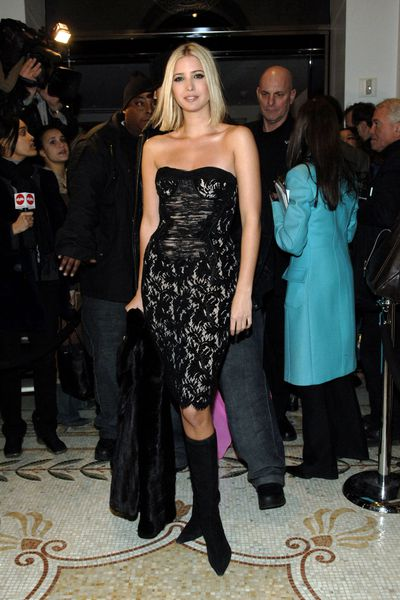 Ivanka Trump at the re-opening of the Versace Boutique in New York