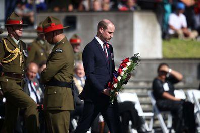 Prince William Anzac Day New Zealand