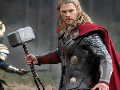 Chris Hemsworth as Thor, in the movies.