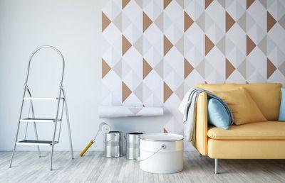 Putting up wallpaper