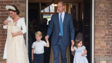 Why did the Queen and Prince Philip miss Prince Louis' christening?