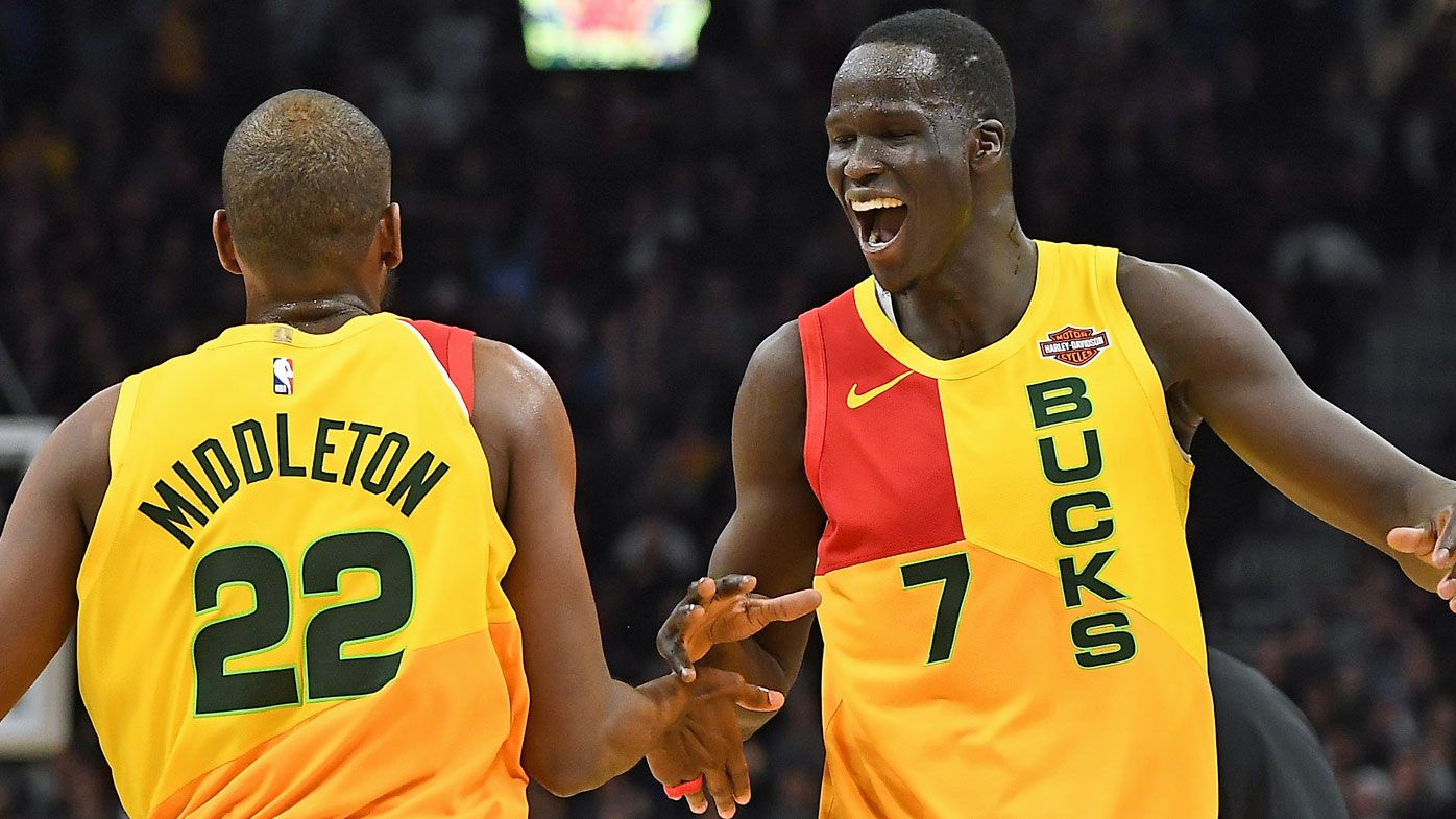 Thon Maker stars for Milwaukee, San Antonio Aussie Patty Mills reaches double figures