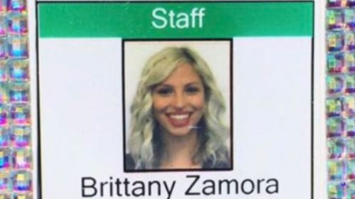 Brittany Zamora, 27, a teacher from Arizona, is accused of having sex with a 13-year-old student on three occasions and performing oral sex on him in a classroom. (KNXV)