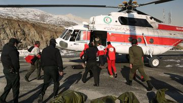 Iran avalanche body recovery