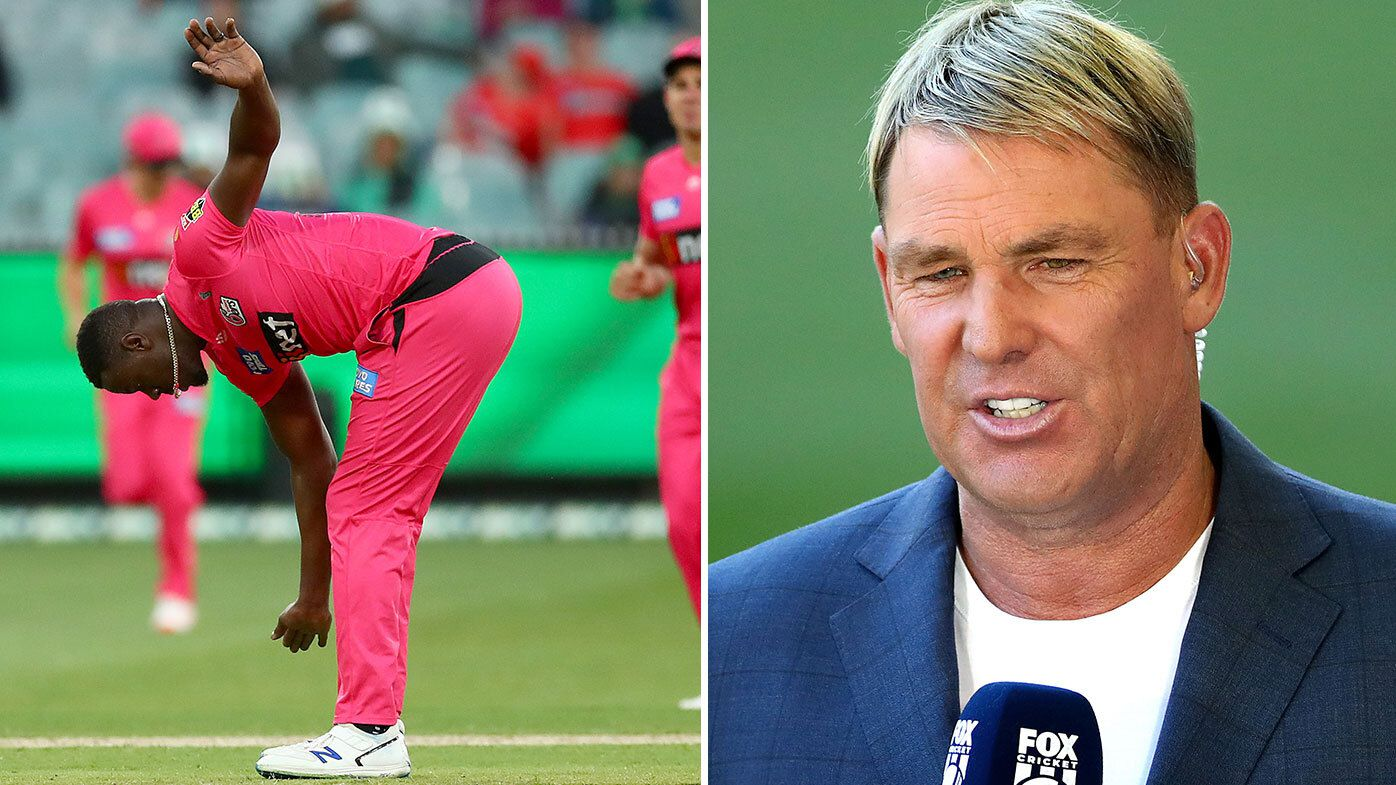 Shane Warne unleashes another astounding rant in the commentary box, torching Sydney Sixers' tactics