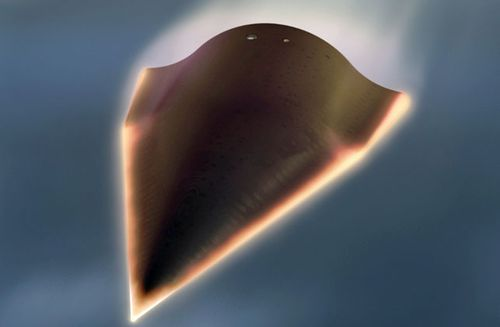 An artist impression of the US Falcon Hypersonic Technology Vehicle 2 (HTV-2). The Falcon HTV-2 is an unmanned, rocket-launched, maneuverable aircraft. (AP).