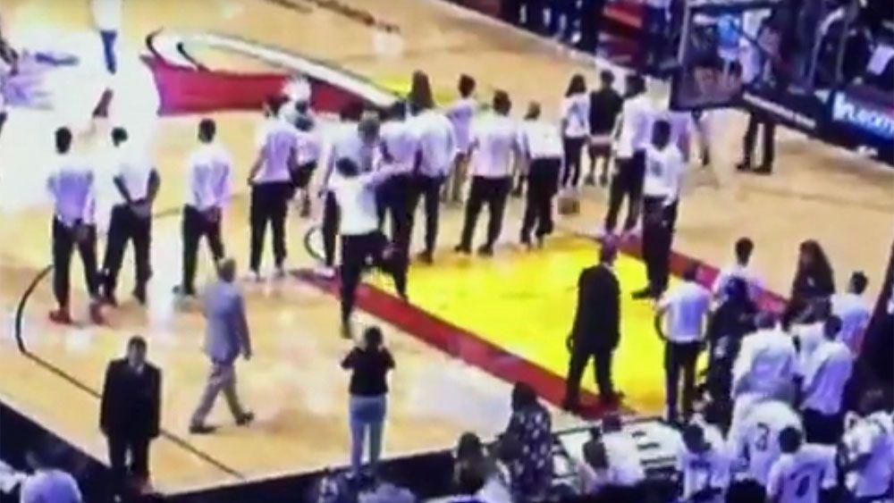 Miami Heat in Canadian anthem drama