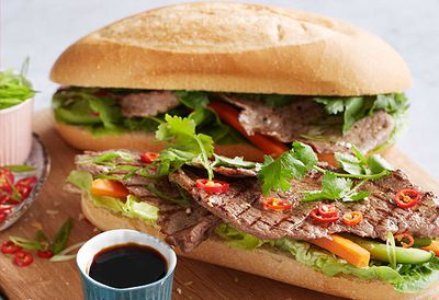 """Recipe: <a href=""""/recipes/ibeef/8982453/vietnamese-topside-rolls-with-pickled-vegetables"""" target=""""_top"""">Vietnamese topside rolls</a>"""
