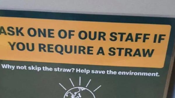 McDonald's minimising plastic straw usage