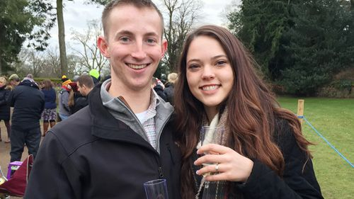 Michael Metz asked Ashley Millican to marry him as they visited the Queen's Sandringham Estate on Christmas Day. (Sam Russell/PA Wire)