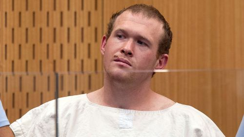 Brenton Tarrant, the man charged in the Christchurch mosque shootings, appears in the Christchurch District Court, in Christchurch, New Zealand.