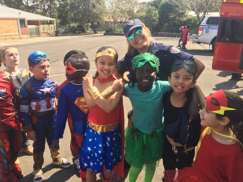 The students got into the superhero spirit.