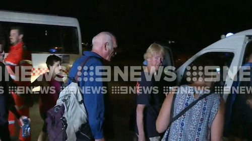 There were dramatic calls for help from tourists who found themselves caught in floodwaters. Picture: 9News