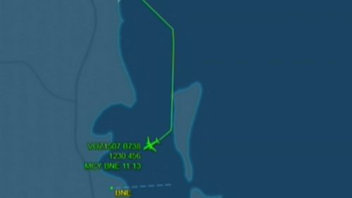 The plane had to be diverted to Brisbane Airport. (9NEWS)