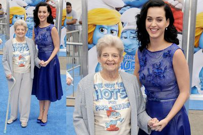 Katy Perry with her grandmother Ann Hudson.