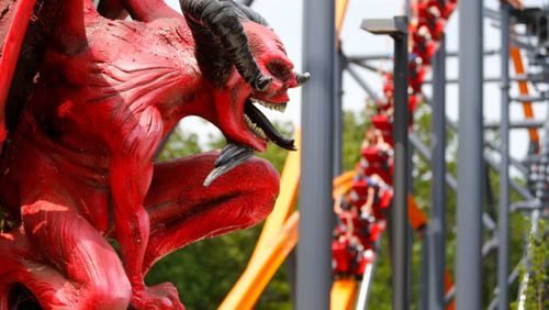 """These US coaster enthusiasts — """"daredevils"""" if you will — are willing riders on the Jersey Devil Coaster, which debuted to the public on Sunday, June 13, at Six Flags Great Adventure in central New Jersey."""