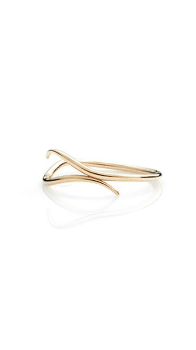 """<a href=""""http://store.sarahandsebastian.com/products/wave_ring_yellow_gold"""">Wave Ring in Gold, $280, Sarah &amp; Sebastian</a>"""