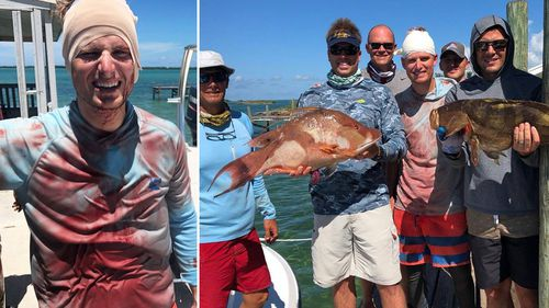 While the extent of Will Krause's injuries was not immediately known, a photo taken of the Florida native on the dock shows him with a bandaged head and a blood-soaked shirt.