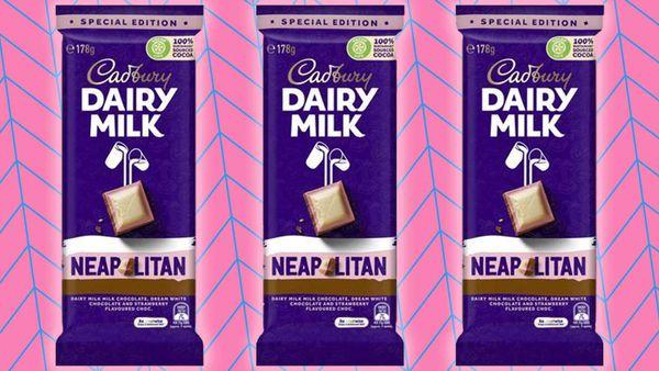 Shoppers go wild for new Cadbury Neapolitan block