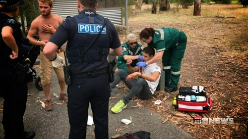 The French tourists had only just met Barresi when he attacked without warning last year. Picture: 9NEWS