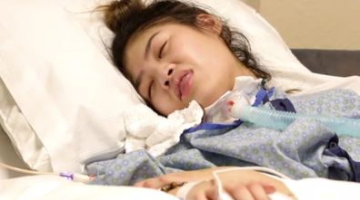 An 18-year-old girl has been left with severe brain damage after undergoing cosmetic surgery.