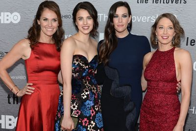 The glammed-up <i>Leftovers</i> girls look matchy-matchy on the red carpet!