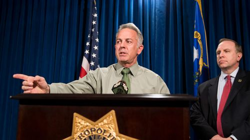 Sheriff Joe Lombardo discusses the Route 91 Harvest festival mass shooting. (AP)