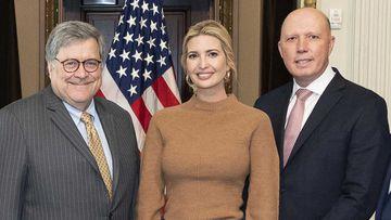 William Barr, Ivanka Trump and Peter Dutton.