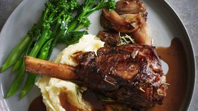 Red wine, balsamic and rosemary braised lamb shank