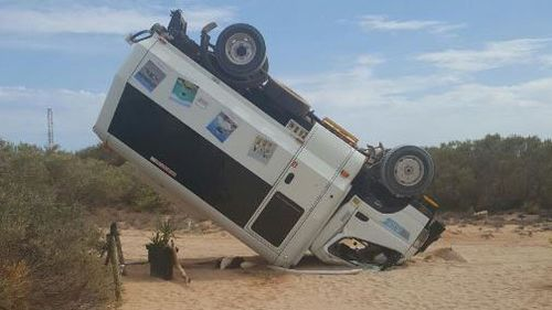 WA island worker flips tourist bus during $150k forklift rampage
