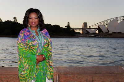 In a kaftan by Australian designer Camilla Franks in Sydney 2010