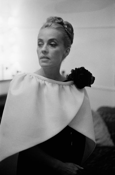 Actress Jeanne Moreau at the Cannes Film Festival in Cannes, France, in May 1962