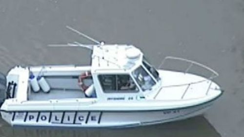 Water police are scouring the river after receiving a tip-off from a member of the public. (9NEWS)