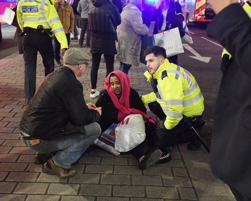 A woman was injured in the stampede as people ran from the tube. (AAP)