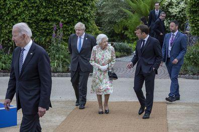 Queen Elizabeth and Boris Johnson Buckingham Palace G7 Summit