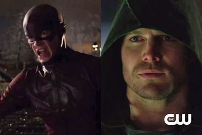 The brand new trailer for <i>The Flash</i> TV series introduces the <i>Arrow</i> storyline crossover.<br/><br/>And you know what that means FIXies...we get to gawk at Canadian hottie <b>Stephen Amell</b> as well as The Flash himself <b>Grant Gustin</b>. Hell to the yeah!<br/><br/>Click through to check out the trailer...plus more sneak peeks of our most anticipated shows of 2014, including <i>Constantine </i>and <i>Gotham</i>...
