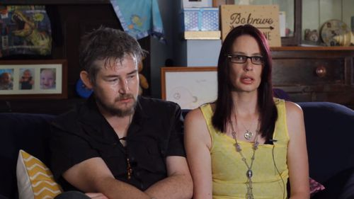 Tim Shaw and Kirstie Rogers front a new campaign on the dangers of toppling furniture to children. Picture: 9NEWS