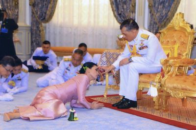 King Maha Vajiralongkorn of Thailand and Suthida Tidjai, May 1 2019