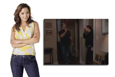 When Remini got pregnant, her character Carrie developed a sudden love for jumbo PJs and sweat pants, but no amount of baggy clothes could obscure the clearly-visible bump.