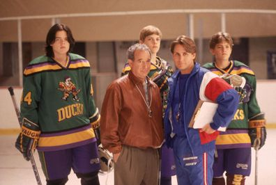 Emilio Estevez, The Mighty Ducks, cast.